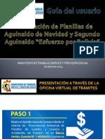 GUÍA DE USUARIO PARA LA PRESENTACIÓN DE AGUINALDO Y SEGUNDO AGUINALDO 2014