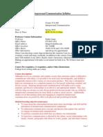 UT Dallas Syllabus for comm3311.001.10s taught by Kathy Lingo (klingo)
