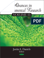 Advances in Environmental Research, Volume 13