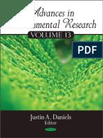 Advances in Environmental Research, Volume 13