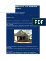 Arquitectura Vernacular en La Selva