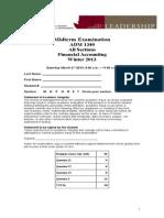 ADM 1340 Midterm Exam Feb1-2013-Solutions