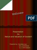 Valuation Goodwilll