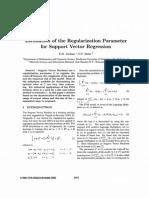 JORDAAN2002_Estimation of the Regularization Parameter for SVR