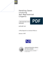 Handling Cases Involving Self-Represented Litigants - A Benchguide for Judicial Officers - Judicial Council of California Center for Families, Children & the Courts