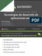 Tecnonolgias de Desarrollo de Aplicaciones Web