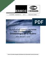 El planteamiento ambiental del CENAMB bajo el enfoque de la Gnoseología de G. Bueno