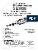 DREMEL Multipro-395t6 Manual English