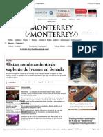 02-02-15 Alistan Nombramiento de Suplente de Ivonne en Senado - Grupo Milenio