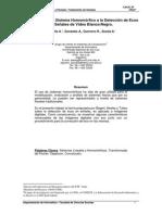 Aplicación de un Sistema Homomórfico a la Detección de Ecos en Señales de Vídeo Blanco/Negro