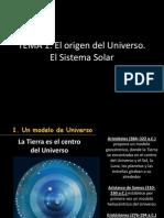 Tema 1 El Origen Del Universo El Sistema Solar