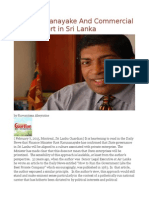 Ravi Karunanayake and Commercial Air Transport in Sri Lanka