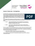 Section 5 AGF Minimum Overtaking Distance the Legislation