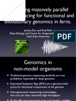 Leveraging massively parallel pyrosequencing for functional and evolutionary genomics in ferns.
