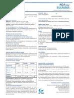 Determinación de Sulfatos