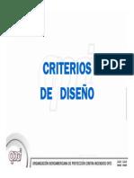 Criterios diseño NFPA13