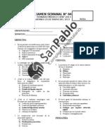 EXAMEN  SEMANAL N° 05 - RESUELTO