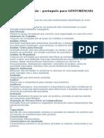 Dicionário Gestão