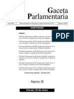 Informes de los Grupos Parlamentarios de la Cámara de Diputados
