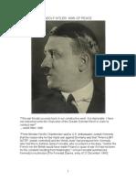 Adolf Hitler Man of Peace