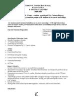 CCHS Strategic Plan Year II 2014-15