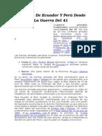 Conflicto de Ecuador Y Perú Desde La Guerra Del 41