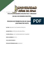 Proceso Fermentación Vinagre Marino Delgado Bi