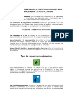 Organización de Los Estandares de Competencias Ciudadanas en La