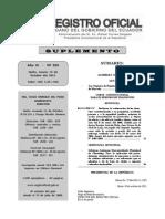 Ley Orgánica de Regulación y Control Del Poder de Mercado