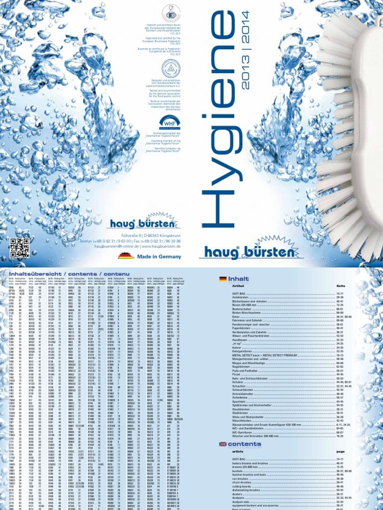 Haug Brosse WC avec Jumbo en polypropyl/ène Blanc 365 x 75 mm