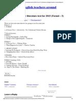 New 2015 Literature text form 4 & 5