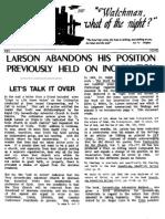 Ralph Larson Abandona Su Posicion