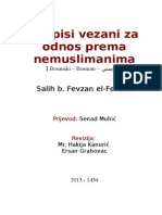 Propisi Vezani Za Odnos Prema Nemuslimanima - Salih b. Fevzan El-Fevzan