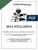 2015 Dubbo Eisteddfod Syllabus