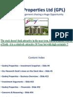 Godrej Properties - November 2014 Multibagger