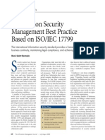 Information Security Management Best Practice Based on ISO_IEC 17799