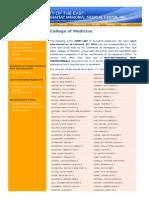 UERM Medical Center Admission 1st List 2014