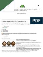 Padma Awards 2015 – Complete List