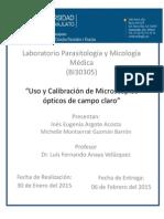 Calibración Del Microscopio