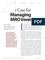 The Case for Managing Mro Inventory