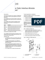 3101835 R1.0 3-FIBMB2 Fiber Optic Interface Module Installation Sheet