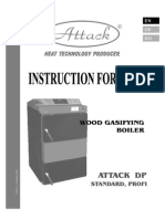 Cazan cu gazeificare Attack Manual