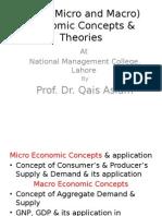 Basic (Micro and Macro, Development) Economic Concepts