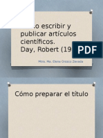 Cómo Escribir y Publicar Artículos Científicos