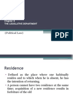 Chapter 8 the Legislative Department
