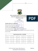 Jinja College B.O.T Exam Paper1, 2013