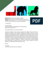 Carta Proyecto Agua de Estanque y Renacuajos