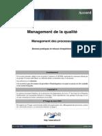 AC X 50-178_Management Processus