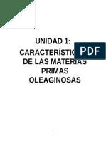 Unidad 1.-Caracteristicas de Materias Oleaginosas