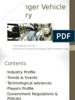 Passenger Vehicle Industry Analysis